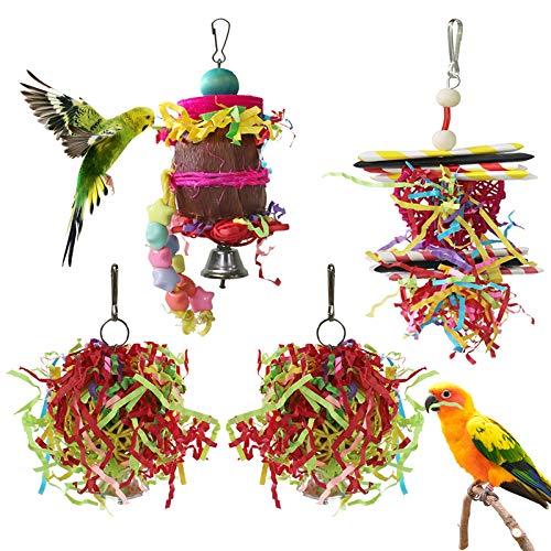 YUEPET 4 Pack Bird Toy